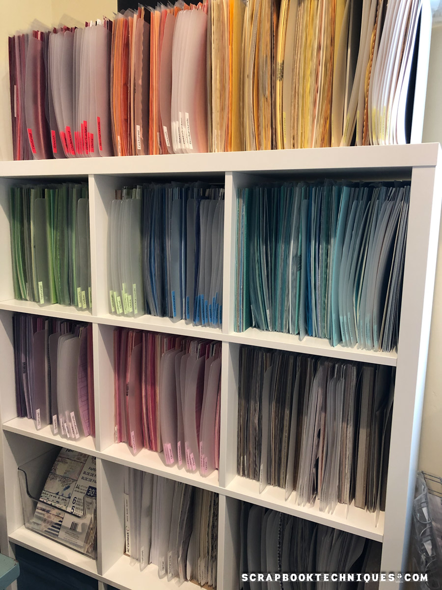 Cardstock Organization by Color