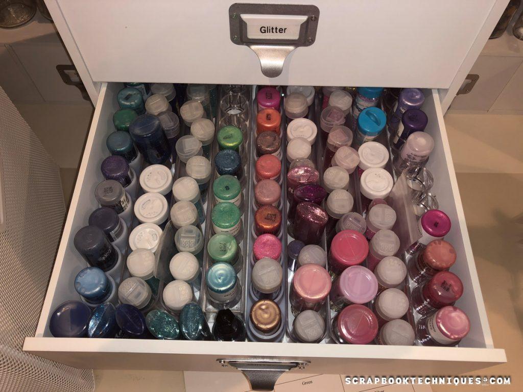 Glitter organization by color