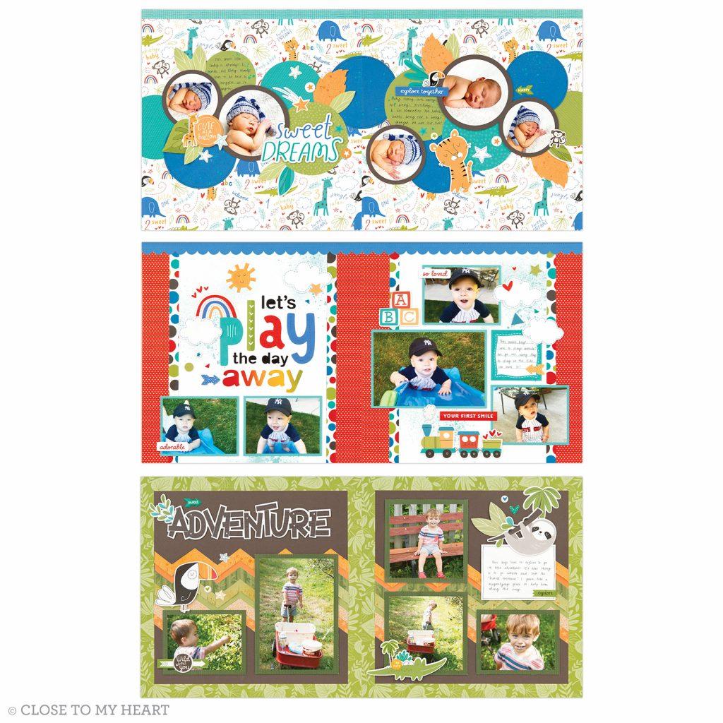 Sweet Safari Double page layouts