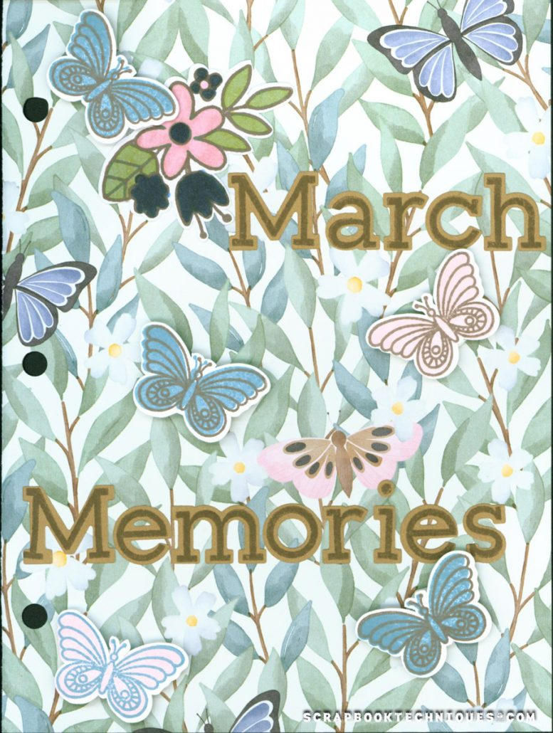 March Memory Journal Cover