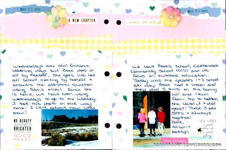 March 3-4 Memory Journal
