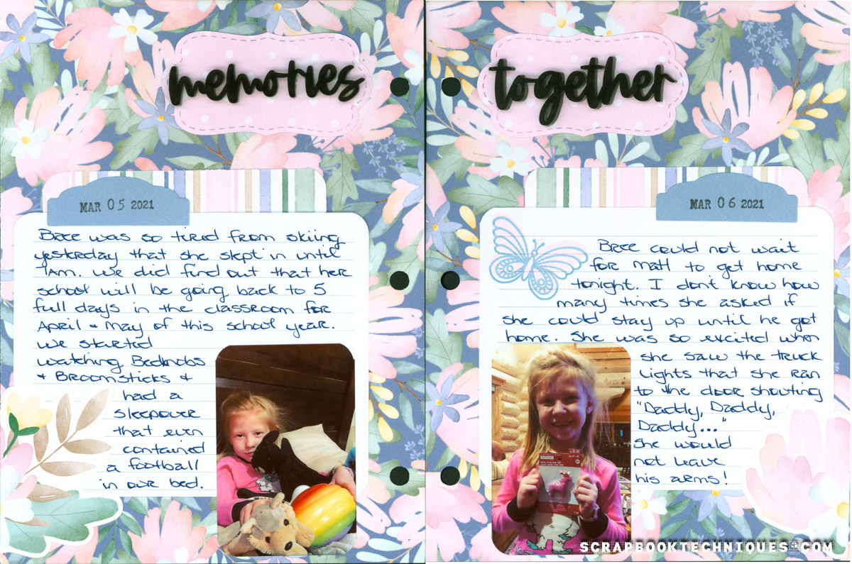 March 5-6 Memory Journal