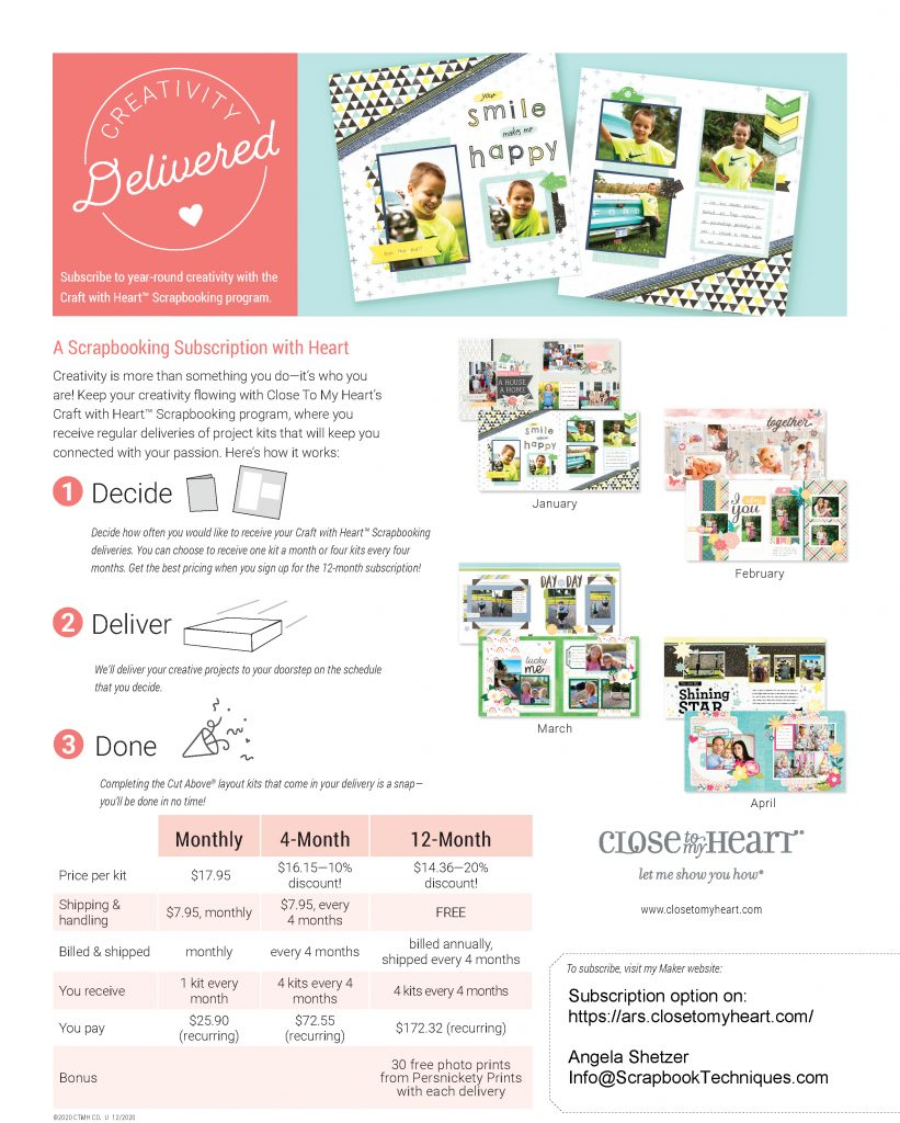 Monthly Scrapbooking Subscription
